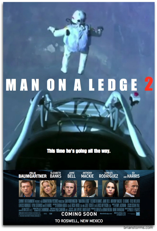 Man on a Ledge 2: Starring Felix Baumgartner, brought to you by Red Bull